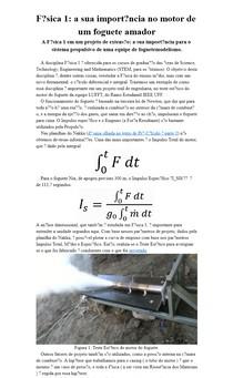 Física 1: a sua importância no motor de um foguete amador