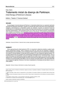 Tratamento inicial para doença de Parkinson
