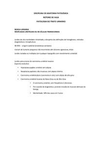 PATOLOGIA DO TRATO URINÁRIO. TEXTO