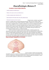 Transcrição: Neurofisiologia Motora II