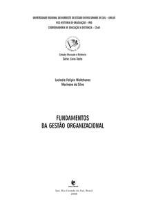 Apostila UNIJUÍ - Fundamentos da gestão organizacional