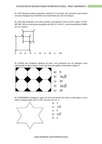 Revisão - Geometria plana