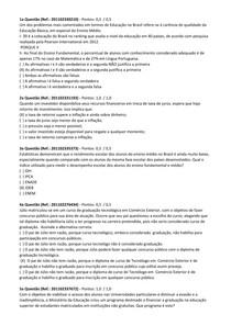 AV1 - GABARITO - PLANEJAMENTO DE CARREIRA E SUCESSO PROFISSIONAL