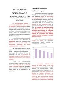 ALTERAÇÕES FISIOLÓGICAS E IMUNOLÓGICAS DO IDOSO