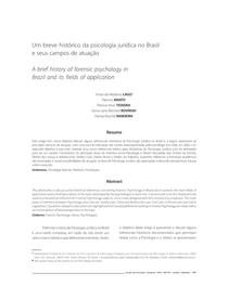 Histórico e áreas de atuação da Psi Jurídica no Brasil