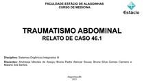 TRAUMATISMO ABDOMINAL RELATO DE CASO 46.1