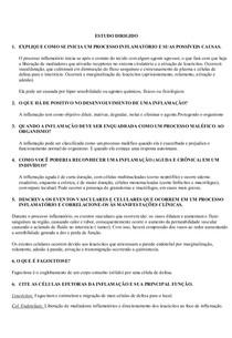 ESTUDO DIRIGIDO - processo inflamatório