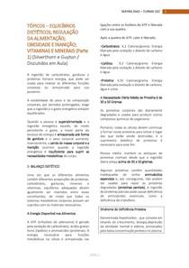 REGULAÇÃO DA ALIMENTAÇÃO, OBESIDADE E INANIÇÃO, VIT E MINERAIS (Parte 1)