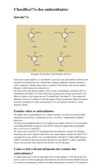 Classificação dos Antioxidantes