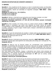 RESUMO DE ESTRUTURA DE CONCRETO ARMADO II - Uniube