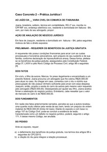 Caso concreto 2 - AÇÃO DE ANULAÇÃO DE NEGÓCIO JURÍDICO