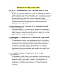 EXERCÍCIO DE REVISÃO PARA A AP2