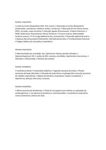 Acidose e Alcalose - causas