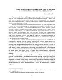 O DEBATE TEÓRICO E METODOLÓGICO NO CAMPO DA HISTÓRIA E SUA IMPORTÂNCIA PARA A PESQUISA EDUCACIONAL