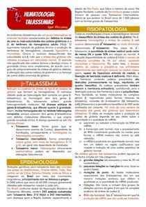 Hematologia - Talassemias e Anemia Hemolítica Autoimune