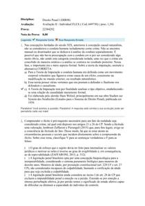Avaliação II Direito Penal I