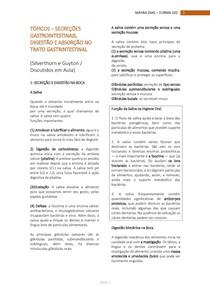 3- TÓPICOS em Secreções gastrointestinais, digestão e absorção no TGI (Parte 1)