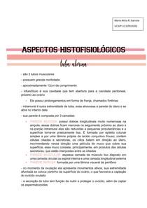 aspectos histofisiológicos da tuba uterina