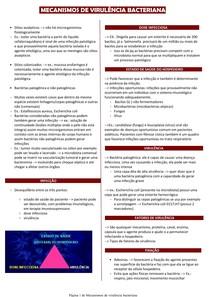 Mecanismos de virulência bacteriana - Microbiologia