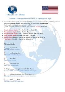 Testando o conhecimento sobre VERBO TO BE em inglês - #exclusivopd