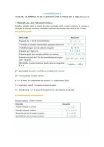 Segunda lei da termodinamica resumo