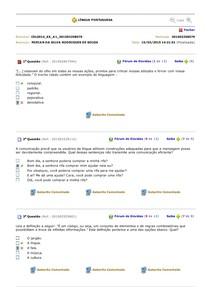 90 Questões de Língua Portuguesa AP Estácio