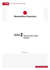 Módulo 2   Fluxo de Caixa e Valor Presente