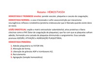 Resumo- Hemostasia