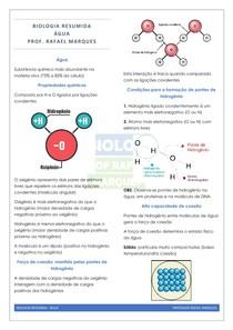 Biologia Molecular 01 - Água - Resumo