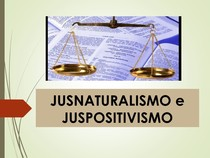 JUSNATURALISMO E JUSPOSITIVISMO resumo