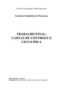 Trabalho - Cartas de Controle e Ciclo PDCA - CEP
