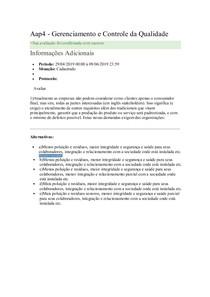 Aap4 - Gerenciamento e Controle da Qualidade 2019