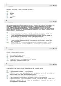SIMULADO LITERATURA BRASILEIRA I