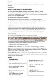 Intoxicação por carbamato e organofosforado