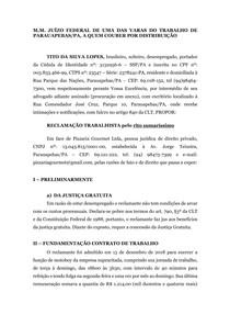 RECLAMAÇÃO TRABALHISTA - LETICIA KELLEN
