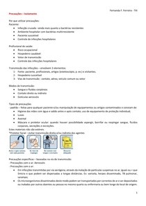 Precauções - Isolamento na Internação de Pacientes
