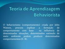 Teoria de Aprendizagem Behaviorista