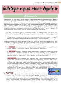 histologia dos orgãos anexos ao sistema digestório Resumo Gartner e aula