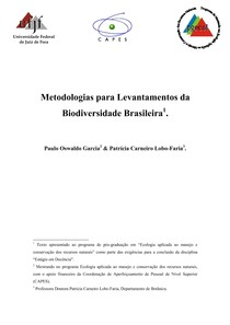 Metodologias para Levantamentos da biodiversidade