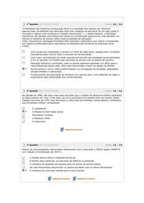 Avaliação Parcial - POLÍTICAS PÚBLICAS E ORG. DA EDUCAÇÃO BÁSICA