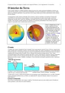 O interior da Terra sua energia  magmatismo  terremotos