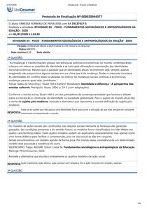 Atividade 3 - Fundamentos Sociológicos e Antropológicos da Educação