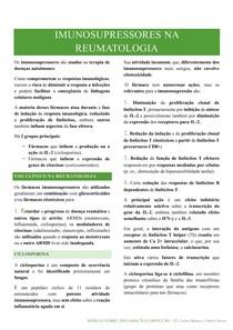 Imunosupressores na reumatologia