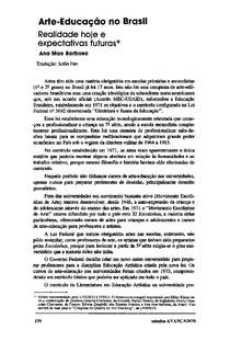 artigo arte e  educação no brasil