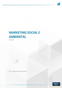 Aula 5 - Marketing Social e Ambiental