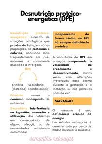 DESNUTRIÇÃO PROTEICO-ENERGÉTICA (DPE)