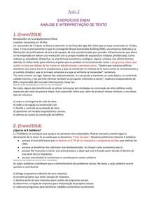 Espanhol - lista de exercícios 1