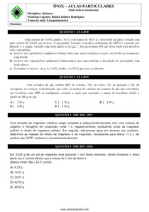 Estequiometria I - ITA