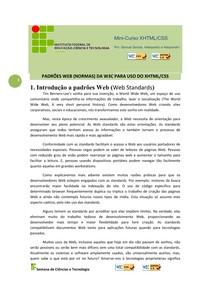 Apostila de XHTML e CSS