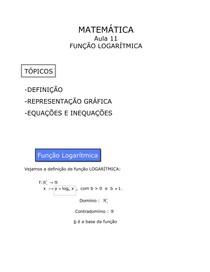 Aula 11 - Função Logarítmica
